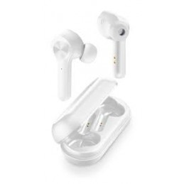 AURICOLARE VIVAVOCE BLUETOOTH STEREO TOUCH CONTROL BIANCO