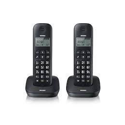 TELEFONO CORDLESS DOPPIA CORNETTA GALA TWIN NERO