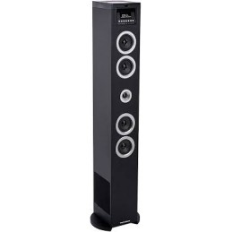 Multimedia Tower with CD player - USB Reader and charger - SD - PLL FM Radio - Wooden casing - 60 W musical power - Remote contr