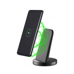 CARICABATTERIA RETE STAND WIRELESS NERO