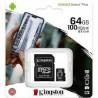 MEMORY CARD KINGSTONE CANVAS SELECT MICRO SD 64 GB  CLASSE 10 CON ADATTATORE SD