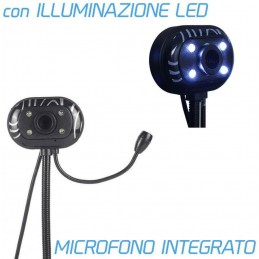 WebCam 100 4 Led con microfonocon supporto da tavolo
