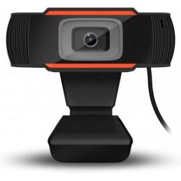 Webcam PC videocamera Live Streaming HD 480p Telecamera PC con Microfono Stereo USB
