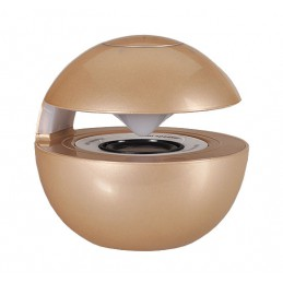 LED BALL SPEAKER BLUETOOTH MICRO SD GLD
