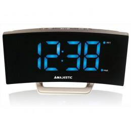 Sveglia Con orologio digitale,Doppio allarme, Display curvedAlimentazione a RetePosizionabile a tavolo