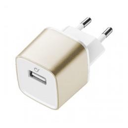 CARICABATTERIA RETE IPHONE USB ORO