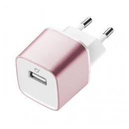 CARICABATTERIA RETE IPHONE USB ROSA