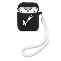 COVER GUESS AIRPODS 1/2 SILICONE NERO