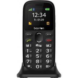 BEAFON telefono GSM con base di ricarica display da 1,77 tasto SOS 2 tasti memorie dirette