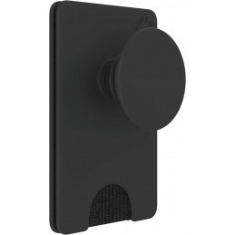 PHONE GRIP & STAND POP WALLET PLUS BLACK