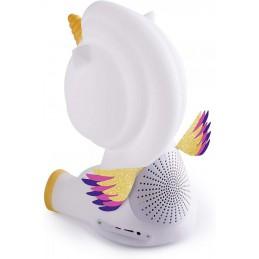 Speaker Bluetooth Luminoso, unicorno, Bluetooth Version V3.0 - IPX6  Aux In con batteria ricaricabile Lithium altezza 23 cm