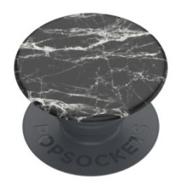 PHONE GRIP & STAND Black Modern Marble