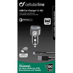 CARICA AUTO QC USB-C  HUAWEI NERO
