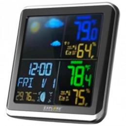 Barometro,Orologio radiocontrollato Doppio allarme con snooze Display a colori ,fase lunare