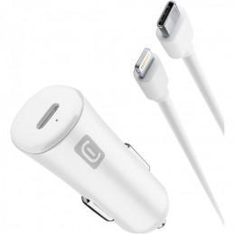 CARICABATTERIE DA AUTO USB-C 20 Watt COMPLETO DI CAVO LIGHING
