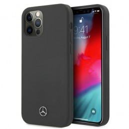 COVER SILICONE MERCEDES BENZ IPHONE 12 / 12 PRO SPACE GREY