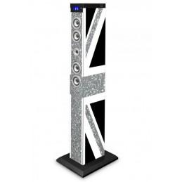 Bigben 2.1 sound-Tower UK glitter BLUETOOTH PARTY-Altoparlante Box AUX SD USB mp3 Radio