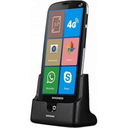 telefono cellulare brondi amico smartphone s 4g doppia fotocamera 5mp+5mp display da 5 android 8.1 con base di ricarica