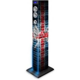 bigben tw9ukstreetlight1+2 torre audio multimediale bluetooth con led blu e bianchi - 60w uk
