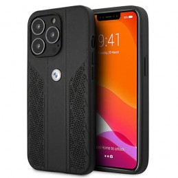 cover bmw iphone 13 pro vera pelle nera